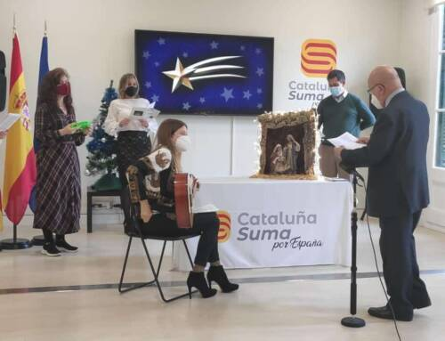 Cantada de Villancicos del 2020 por los miembros de Cataluña Suma Por España