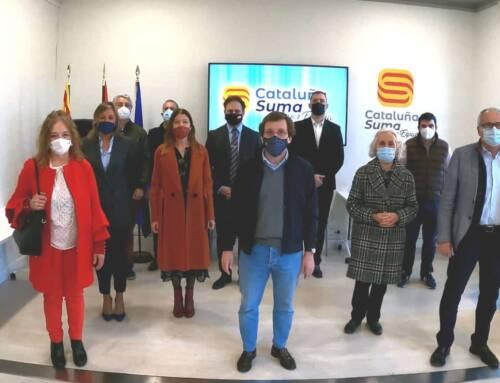 Visita de José Luis Martínez-Almeida a la sede de Cataluña Suma Por España
