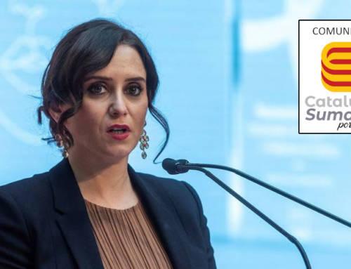 Cataluña Suma por España felicita a los madrileños por los resultados electorales