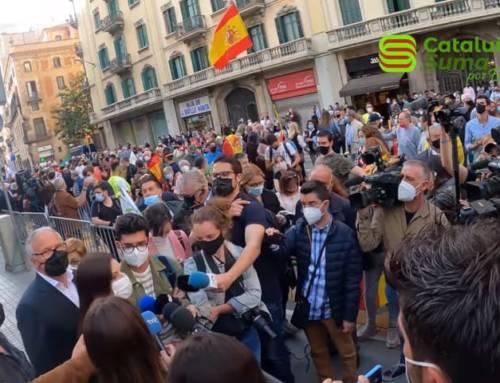 Acto de Cataluña Suma por España en apoyo a la Policía Nacional en Barcelona