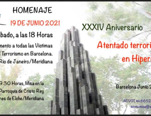 Cataluña Suma por España estará presente en el homenaje a las Víctimas de Hipercor